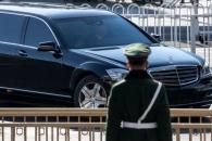 [포토] 베이징역 떠나는 北김정은 태운 리무진