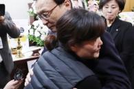 [서울포토] 故 김용균씨 어머니 위로하는 이해찬 대표