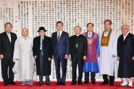 [서울포토] '독립선언서 앞에서'…문 대통령과 7대 …