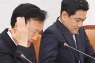 [서울포토] 고심하는 손학규 대표와 오신환 원내대표
