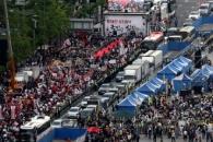 촛불문화제·한국당 집회 동시에 열려