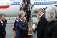 文대통령, 스웨덴 도착…의회연설서 '비핵화 구상' …