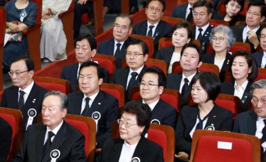 이희호 여사 추모식 참석한 국무위원과 여야 5당 대표