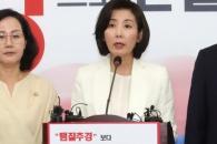 [서울포토] 대국민호소문 발표하는 나경원 원내대표