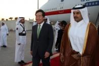 [포토] 카타르 도착한 이낙연 총리