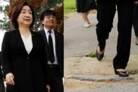 [포토] 전두환 비석 밟고 지나는 심상정 대표