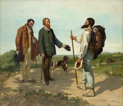 귀스타브 쿠르베 '안녕하세요, 쿠르베씨', 1854년 (132×150.5㎝, 파브르 미술관, 프랑스 몽펠리에)