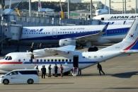 [포토] 日 하네다 공항에 도착한 대통령 전용기