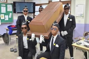"""샘 오취리, 의정부고 졸업사진 '관짝소년단' 흑인 분장에 """"불쾌…"""