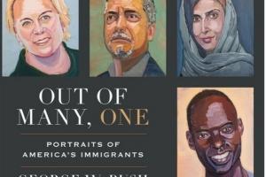 부시 전 대통령 초상화 실력 볼까, 이민자 43명의 얼굴 그린 이유