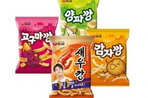 '1일 1깡' 대박… 농심 4개 깡 스낵 한달 매출 100억 돌파