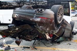 """'환각 질주' 포르쉐에 치인 오토바이 운전자 """"평생 장애 안고 살…"""
