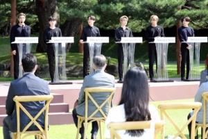 '청년의 날' 대표 연설하는 방탄소년단
