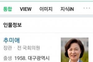 """김근식 """"네이버에 '추미애' 검색하면 이상해…오늘은 정상"""""""