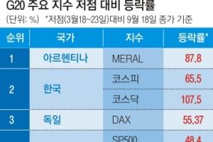 동학개미 파워에… 코스피 6개월간 65.5% 상승 '세계 2위'