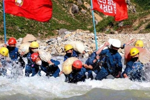 북한 수해 복구 총력
