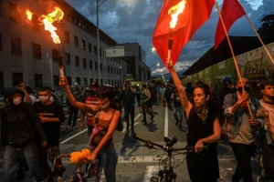 콜롬비아 경찰 폭력 규탄시위