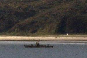 등산곶 인근 앞바다 北 경비정