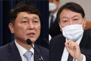 """靑최재성 """"윤석열 '文 임기보장' 말 꺼낸 자체가 부적절"""" 비판…"""