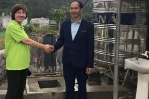 글로벌프랜드 베트남 지부, 하장성 중학교 두 곳에 우물 파주기 봉…
