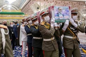 이란 핵 과학자 시신 운구