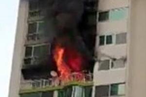 군포 산본 25층짜리 아파트서 화재…4명 사망·1명 중태