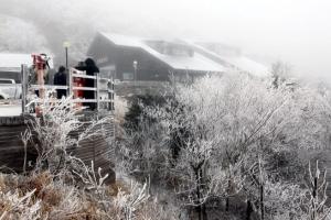 눈 내린 한계령 '한겨울 풍경'