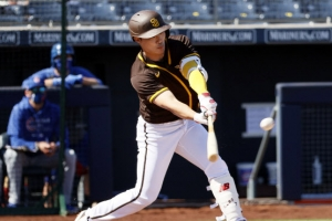 김하성, MLB 시범경기 첫 안타
