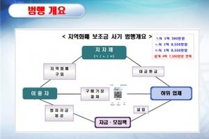 고교생 등 1000여명 동원해 수십억원 '지역화폐 깡'