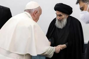 """아브라함 고향 간 프란치스코 교황 """"신의 이름 사용한 폭력은 신성…"""