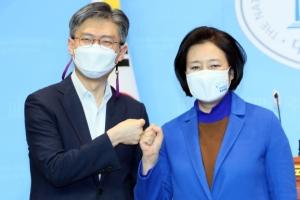 박영선, 與단일화 경선서 조정훈에 승리… 남은 승부는 김진애