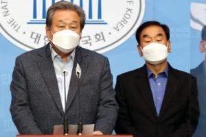 """[포토] 김무성-이재오, """"야권 단일화 못하면 필패"""""""
