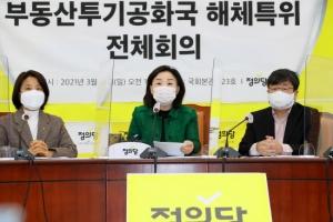 정의당 '부동산 투기공화국 해체 특위´ 회의