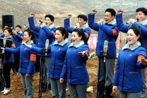 [포토] 北 강원도 발전소 건설장에서 '화선식 선전'