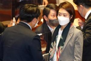 [포토] 국회 본회의 참석한 고민정 의원