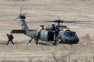 [포토] 미 해병대 '헬기로 적 후방 침투'