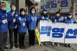 [포토인사이트] 4.7 보궐선거, 지지 호소하는 박영선-오세훈 후보