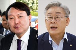 '재보선 효과' 윤석열, 서울·부산·중도서 모두 40% 돌파…이재…