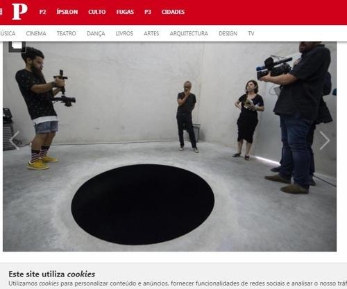 애니시 카푸어의 '림보에의 강림'[포르투갈 매체 퍼블리코 화면 캡처]