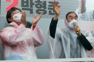 [포토] 유승민-이재오, 박형준 지지 호소