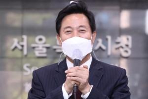 [서울포토] '첫 출근' 오세훈 서울시장