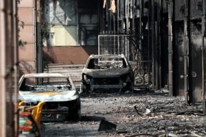'전소된 차량'… 남양주 주상복합건물 화재