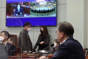 [서울포토] 문 대동령·오시장 한자리에