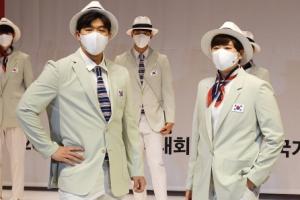 도쿄올림픽 단복 선보이는 국가대표 선수들