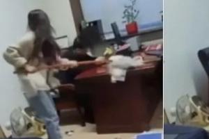 성희롱한 직장 상사 청소 밀대로 응징한 중국 여성 화제