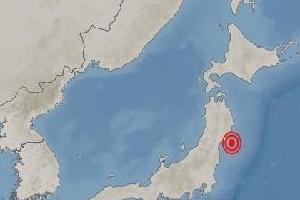 일본 미야기현 센다이 동쪽서 지진...규모 5.8