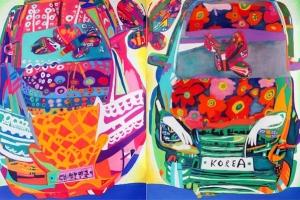 자동차의 역동성과 색채의 하모니…최주림 개인전 열려