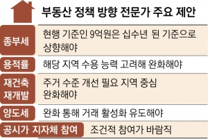 """""""재건축 풀되, 집값 자극 강남보다 서민 주거용 강북 중심으로"""""""