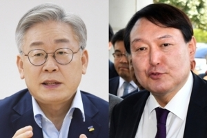 '세몰이' 이재명 42%, 윤석열에 양자대결 첫 역전…尹 35.1%