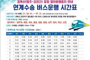 코레일, 경북선 영주~김천 구간 무궁화호 3개월간 일시 중지